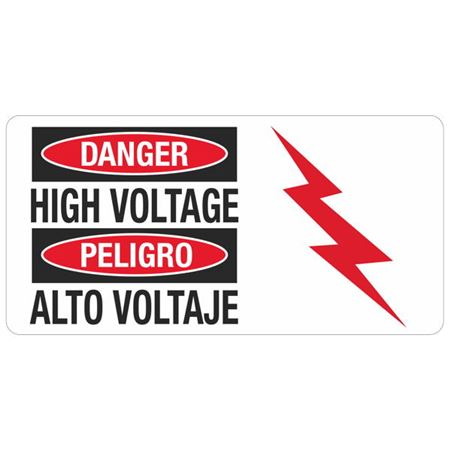 Danger High Voltage - 4 in. x 8 in.