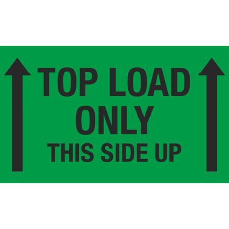 Top Load Only This Side Up - 3x5 in