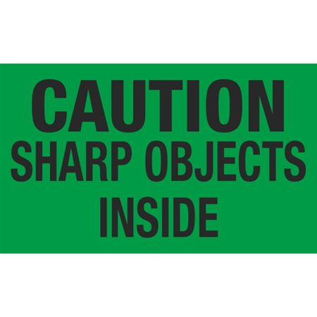 Caution Sharp Objects Inside - 3x5 in