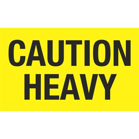 Caution Heavy - 3x5 in
