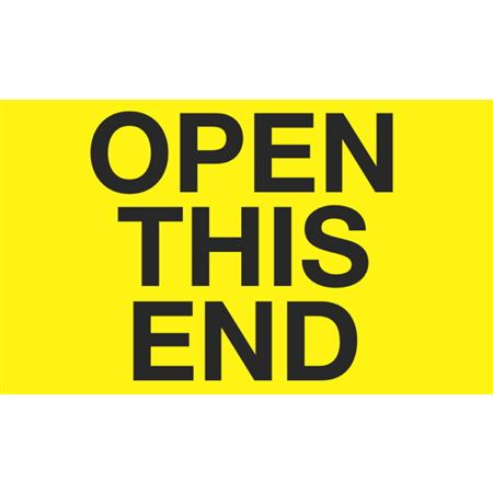 Open This End - 3x5 in