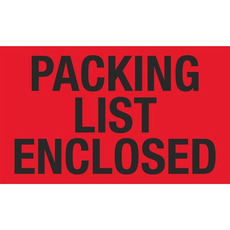 Packing List Enclosed - 3x5 in
