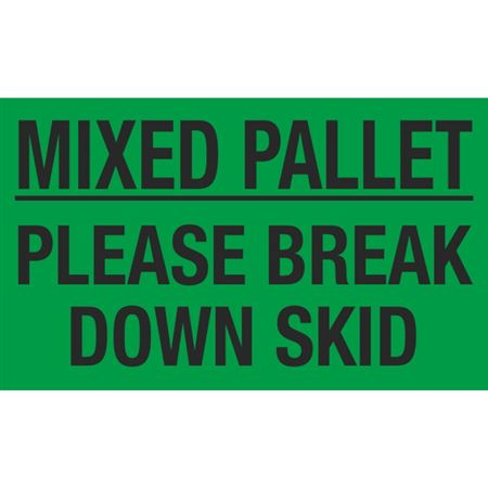 Mixed Pallet Please Break Down Skid - 3x5 in
