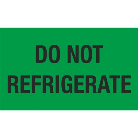 Do Not Refrigerate - 3x5 in