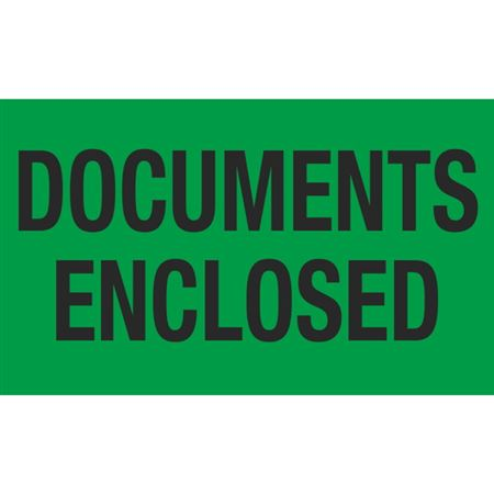Documents Enclosed - 3x5 in
