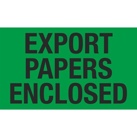 Export Papers Enclosed - 3x5 in