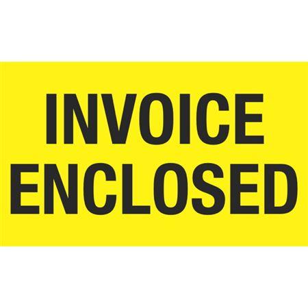 Invoice Enclosed - 3x5 in