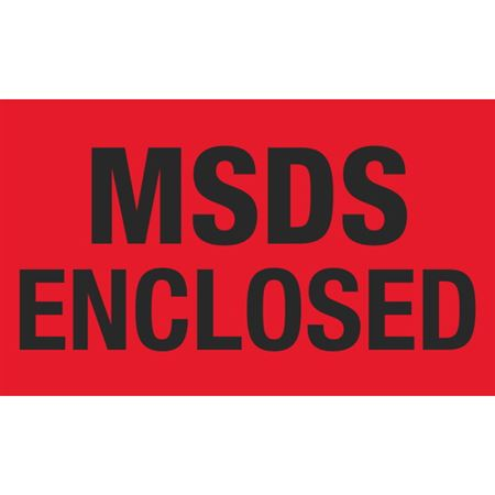 MSDS Enclosed - 3x5 in