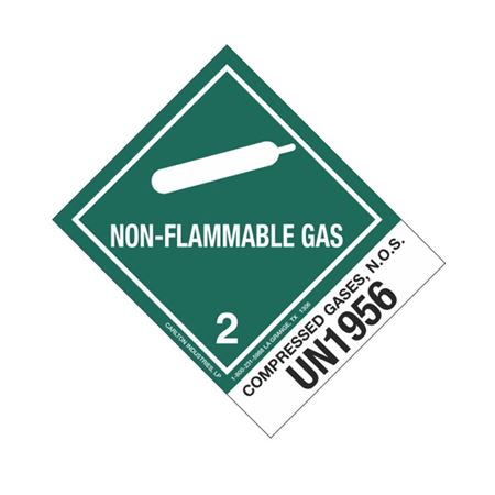 Shipping Label Class 2 - Compressed Gases, N.O.S, UN1956