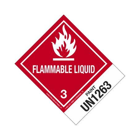 Hazmat Shipping Labels - Paint - UN1263 - Flam. Liq. 4x5