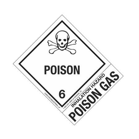 Hazmat Shipping Labels-Inhalation Hazard-Poison Gas-4x5