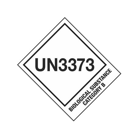 UN Shipping Labels - UN3373 Biological Substance Category B