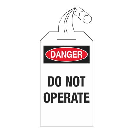 Self-Locking Tags - Danger Do Not Operate 4 x 12.5