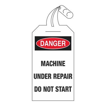 Danger Machine Under Repair Do Not Start 4 x 12 1/2