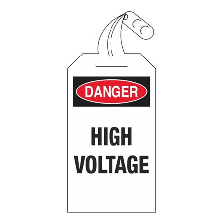 Danger High Voltage 4 x 12 1/2