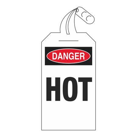 Self-Locking Tags - Danger Hot 4 x 12.5