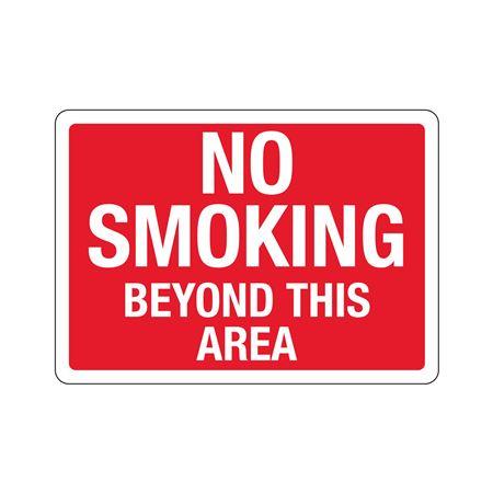 No Smoking Beyond This Area  Sign