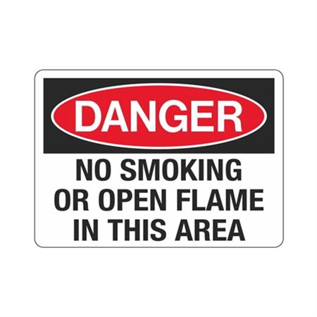 Danger No Smoking Or Open Flame In This Area Sign
