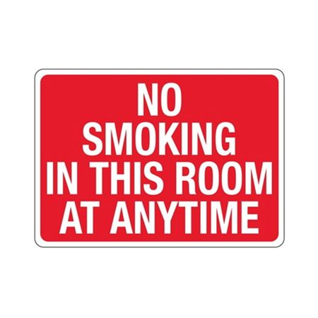 No Smoking In This Room At Anytime Sign