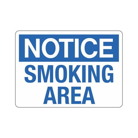 Notice Smoking Area Sign