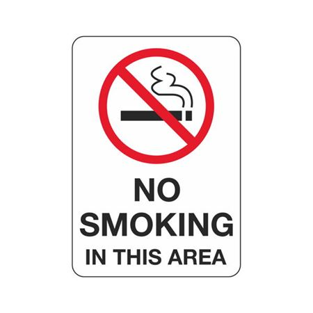 No Smoking In This Area - Polyethylene 7 x 10