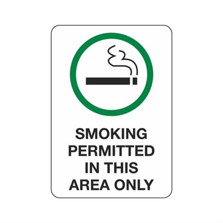 Smoking Permitted In This Area Only - Polyethylene 7 x 10