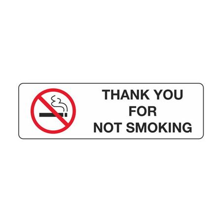 Thank You For Not Smoking - Polyethylene 3 x 10