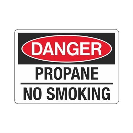 Danger Propane No Smoking Sign