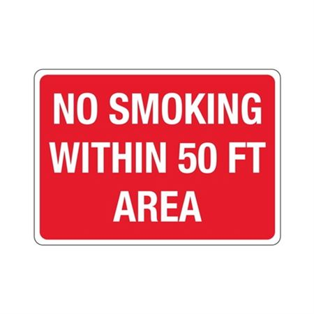 No Smoking Within 50 FT Area Sign
