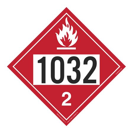 UN#1032 Flammable Gas Stock Numbered Placard