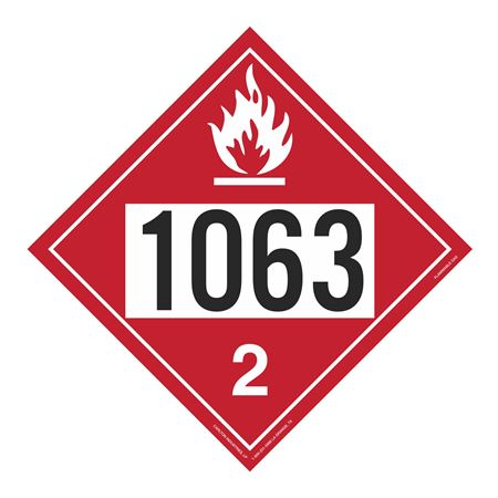 UN#1063 Flammable Gas Stock Numbered Placard