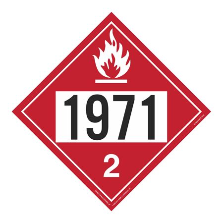 UN#1971 Flammable Gas Stock Numbered Placard