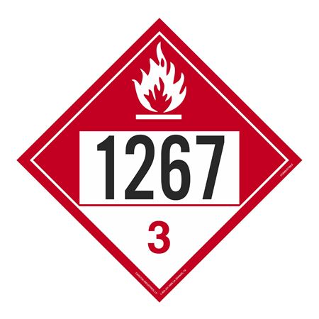 UN#1267 Combustible Stock Numbered Placard