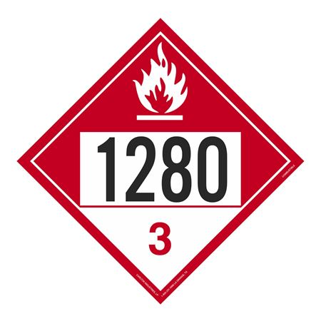 UN#1280 Combustible Stock Numbered Placard