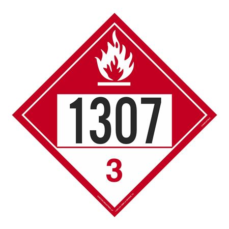 UN#1307 Combustible Stock Numbered Placard
