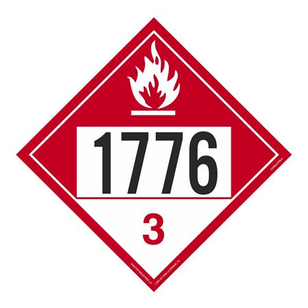 UN#1776 Combustible Stock Numbered Placard