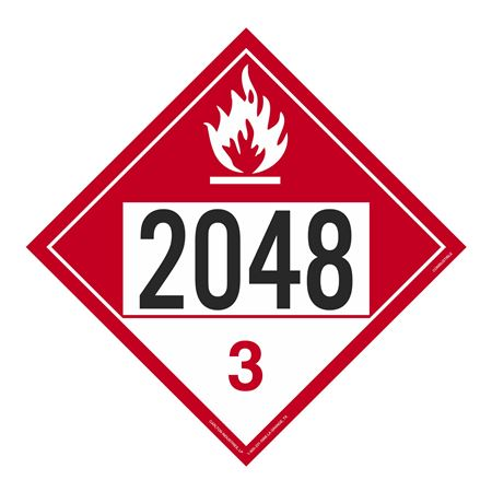 UN#2048 Combustible Stock Numbered Placard