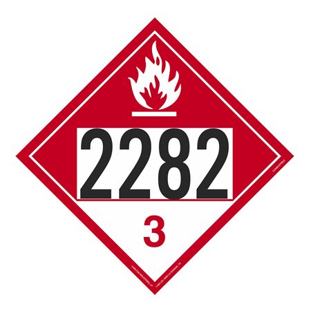 UN#2282 Combustible Stock Numbered Placard