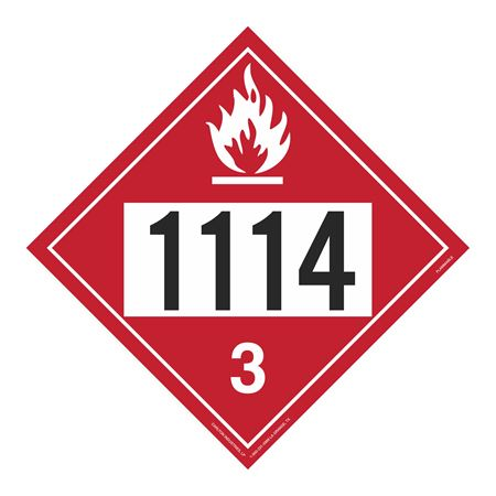 UN#1114 Flammable Stock Numbered Placard