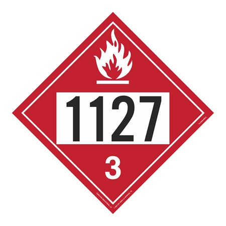 UN#1127 Flammable Stock Numbered Placard