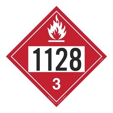 UN#1128 Flammable Stock Numbered Placard