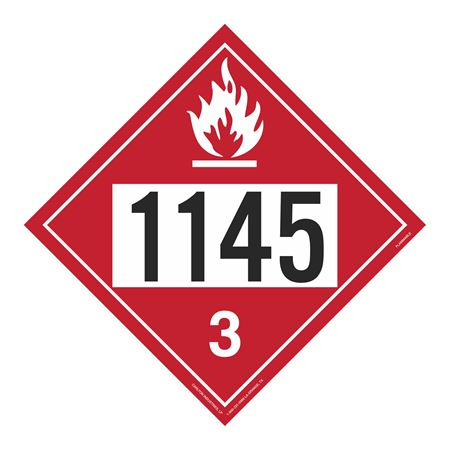 UN#1145 Flammable Stock Numbered Placard