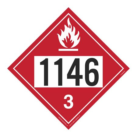 UN#1146 Flammable Stock Numbered Placard