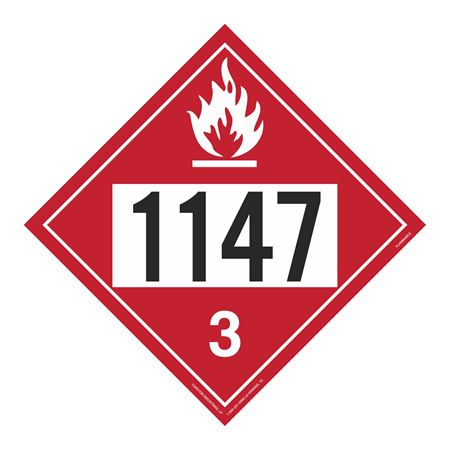 UN#1147 Flammable Stock Numbered Placard