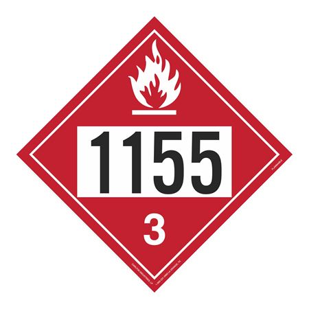 UN#1155 Flammable Stock Numbered Placard