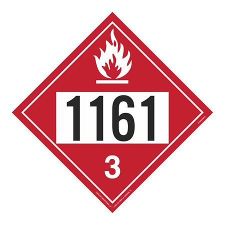 UN#1161 Flammable Stock Numbered Placard