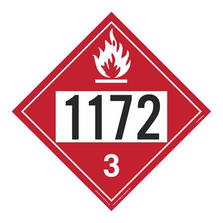 UN#1172 Flammable Stock Numbered Placard