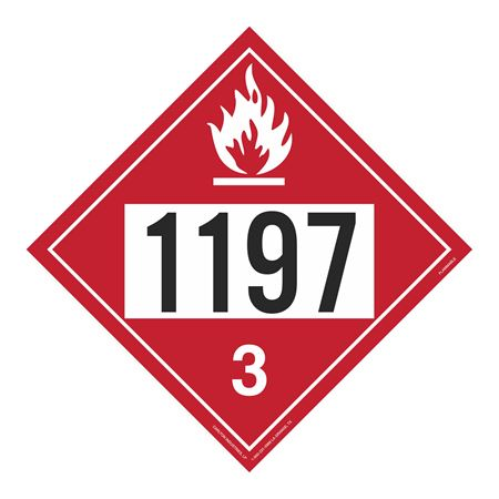 UN#1197 Flammable Stock Numbered Placard