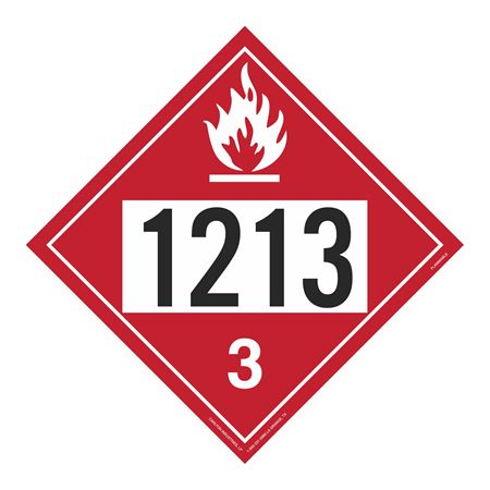 UN#1213 Flammable Stock Numbered Placard