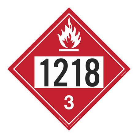 UN#1218 Flammable Stock Numbered Placard